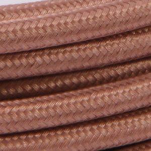 Kobber Trendy Stofledning Med Bakelit Fatning - 3m