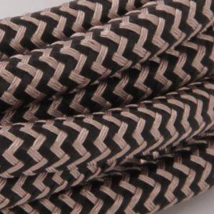 Kobber Snake Trendy Stofledning Med Bakelit Fatning - 3m